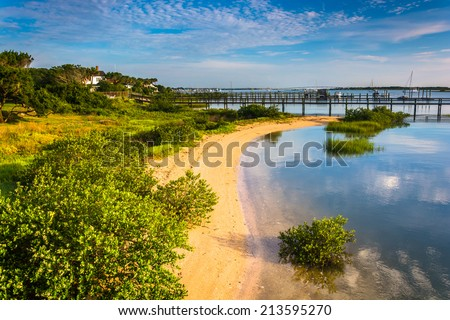 Morning light at Salt Run, in St. Augustine, Florida. - stock photo