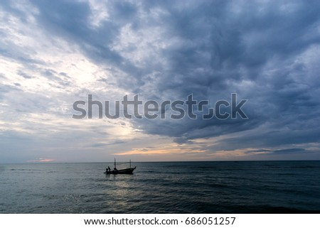 Morning light fishing boat