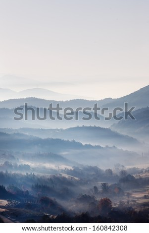 Morning mountain 2 - stock photo