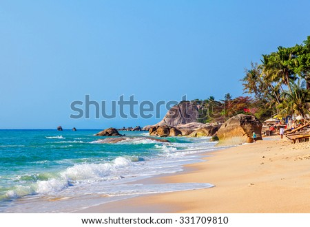 Morning on Lamai beach. Koh Samui. Thailand. - stock photo