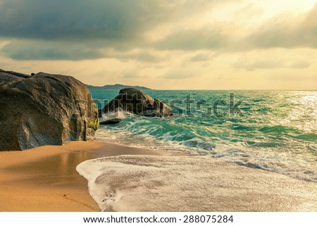 Morning on the island of Koh Samui - stock photo