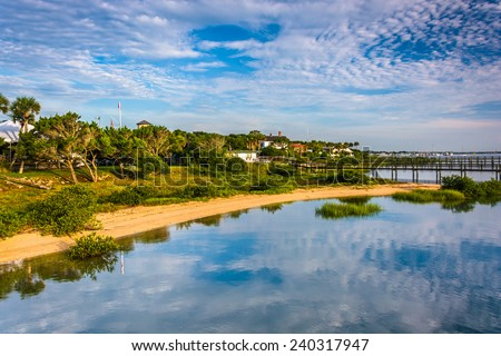 Morning reflections at Salt Run, in St. Augustine Beach, Florida.