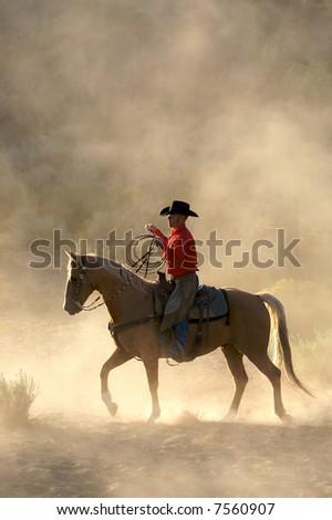 Morning Rider - stock photo