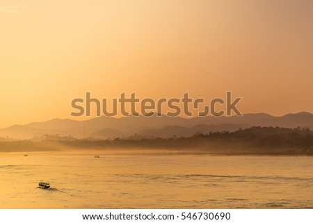 morning river and mountain