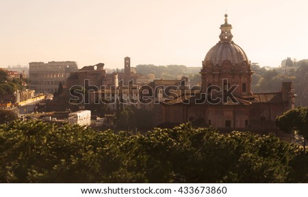 Morning Rome view