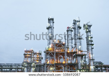 "Morning scene of chemical plant , ""Maptaphut industrial"" , Eastern of Thailand"