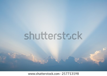 Morning sky clouds - stock photo
