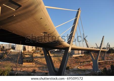 Morning Sunshine on a Bridge in Amman ,Jordan - stock photo