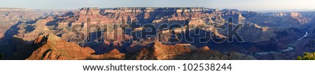Morning-View of Grand Canyon from Navajo Point - stock photo