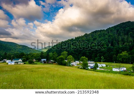 Morning view of Harman, West Virginia. - stock photo