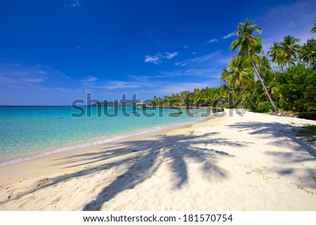 Morning view of the tropical lagoon island Thailand / Thailand, Trat - stock photo