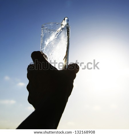 morning water - stock photo