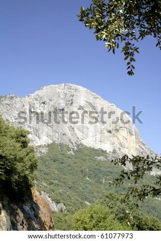 Moro Rock in Sequoia National Park in California - stock photo
