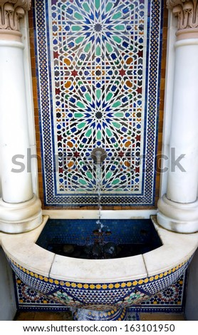 Moroccan architecture traditional - stock photo