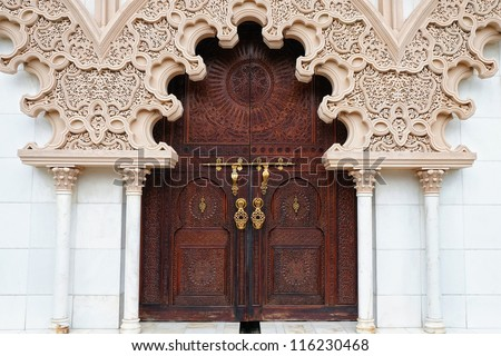 Moroccan architecture traditional design - stock photo