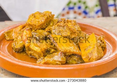 Moroccan braised lamb meat - stock photo