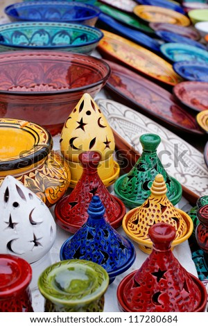 Moroccan crafts - stock photo