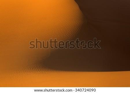 Moroccan desert landscape. Dunes background. - stock photo