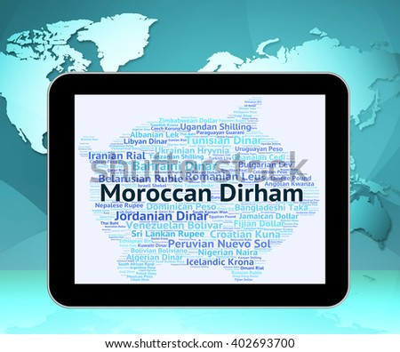 Moroccan Dirham Meaning Morocco Dirhams Coinage Stock Illustration