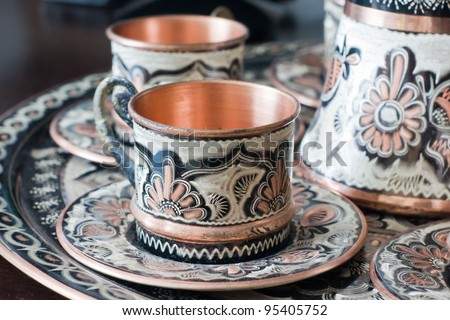 Moroccan glass - stock photo