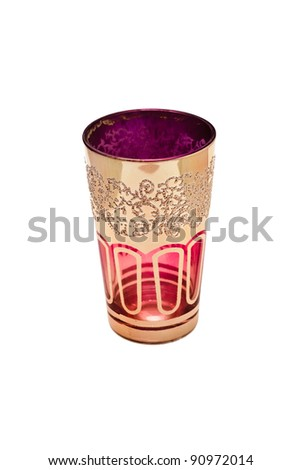 Moroccan glass isolated on white background - stock photo