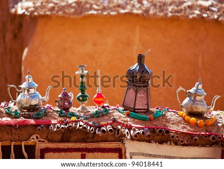 moroccan market - stock photo