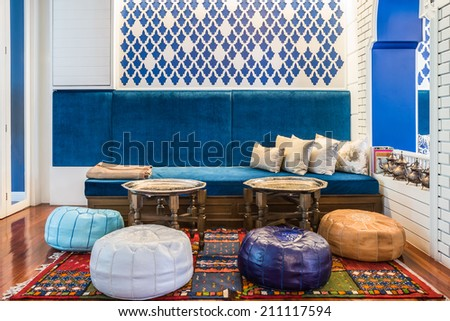 Moroccan Style living room - stock photo