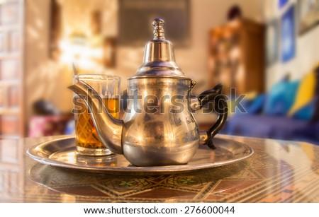 moroccan tea - stock photo