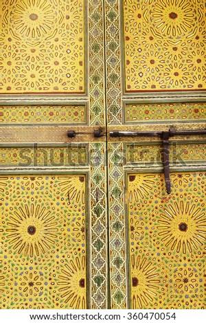 Moroccan traditional door - stock photo