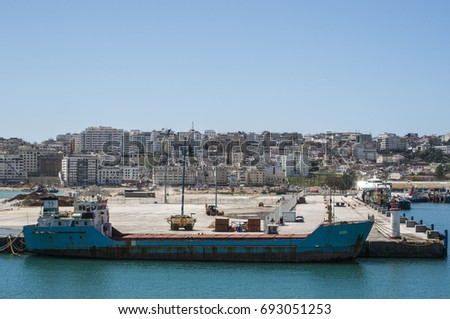 Maghreb stock images royalty free images vectors - Moroccan port on the strait of gibraltar ...
