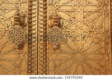 morocco art crafts market in the old city medina souk oldest bazaars a marrakech - stock photo