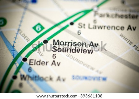 Morrison Av Soundview. Lexington Av/Pelham Express Line. NYC. US