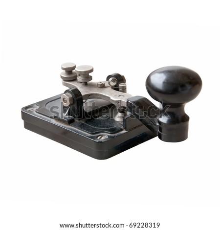 Morse key isolated on white background - stock photo