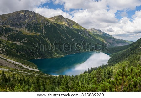 Morskie Oko is a lake in the High Tatra Mountains, Poland.