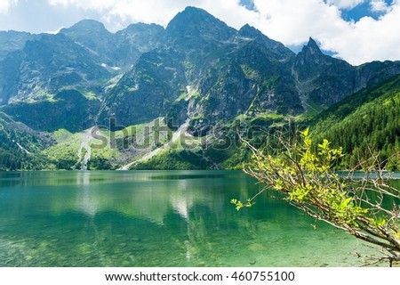 Morskie Oko Lake in High Tatra mountains, Poland