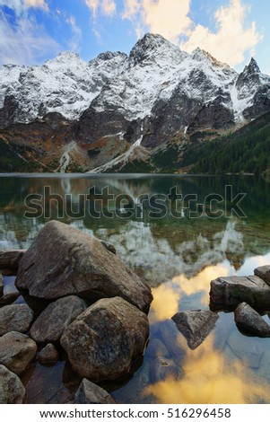Morskie oko lake near Zakopane in the tatra mountains. Poland.