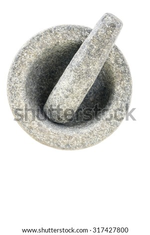 Mortar and Pestle Isolated on a White Background