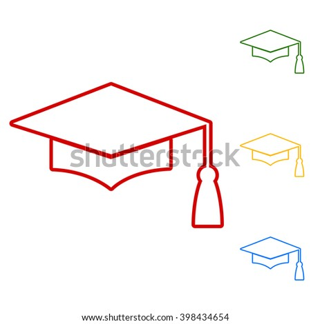 Mortar Board or Graduation Cap, Education symbol