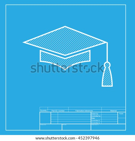 mortar board graduation cap education symbol stock illustration