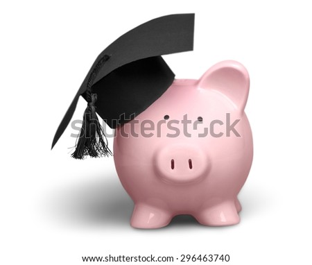 Mortar Board, Piggy Bank, Graduation.