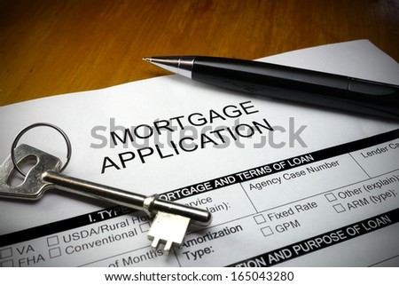 mortgage application form  - stock photo