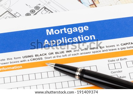 Mortgage application with pen