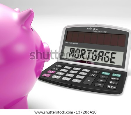 Mortgage Calculator Showing Purchase Of Home Loan