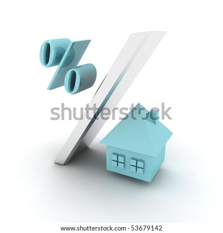 mortgage loan rate - stock photo