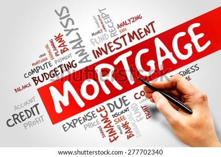 MORTGAGE word cloud, business concept - stock photo