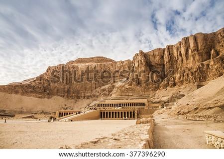 Mortuary Temple Of Hatshepsut - stock photo