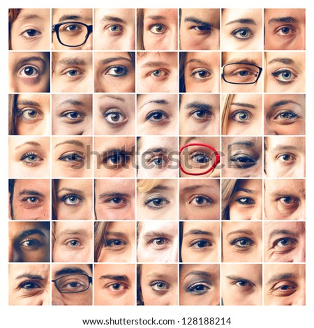 mosaic eyes - stock photo