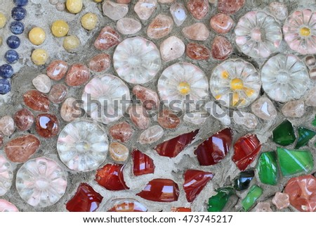 Mosaic flooring or walls.colorful tiles, mosaic, background