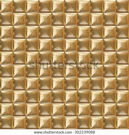 Mosaic gold tiles. Abstract background. Seamless pattern.  - stock photo