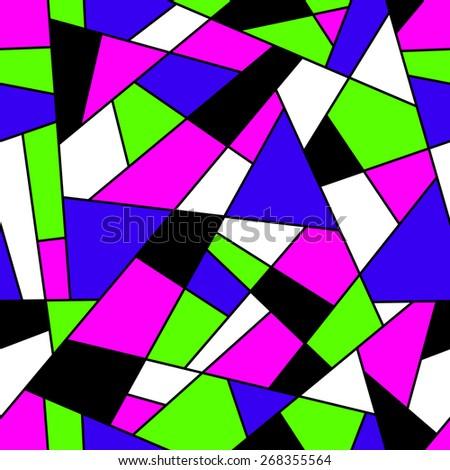 Mosaic seamless pattern. - stock photo